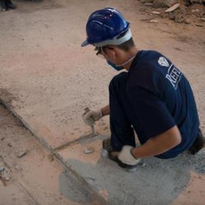 Reforma de piso de concreto