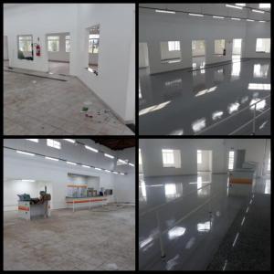 Tratamento de piso industrial