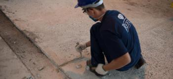 Restauração de piso industrial